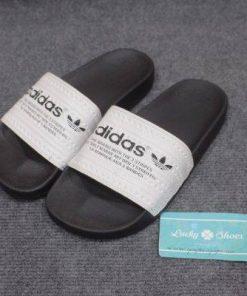 Dép adidas Stripes đen trắng