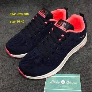 Giày Adidas Neo tím than hồng