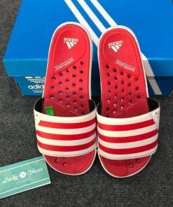 Dép Adidas trắng sọc đỏ