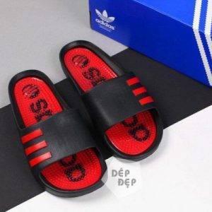 Dép Adidas đúc gai đen đỏ