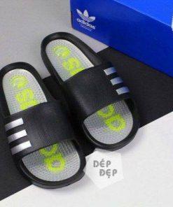 Dép Adidas đúc gai đen xám