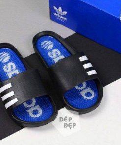 Dép Adidas đúc gai xanh đen