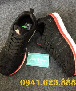 Giày Adidas đen đế trắng đỏ
