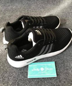 Giày Adidas đen sọc xám