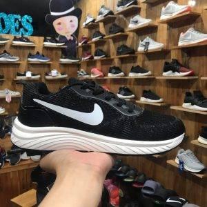 Giày Nike zoom air đen logo trắng