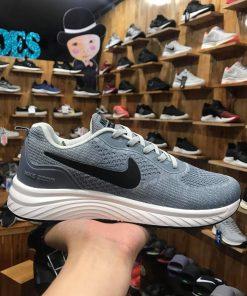 Giày Nike zoom air xám nhạt logo đen