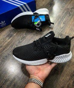 Giày Adidas Alphabounce instinct đen đế trắng