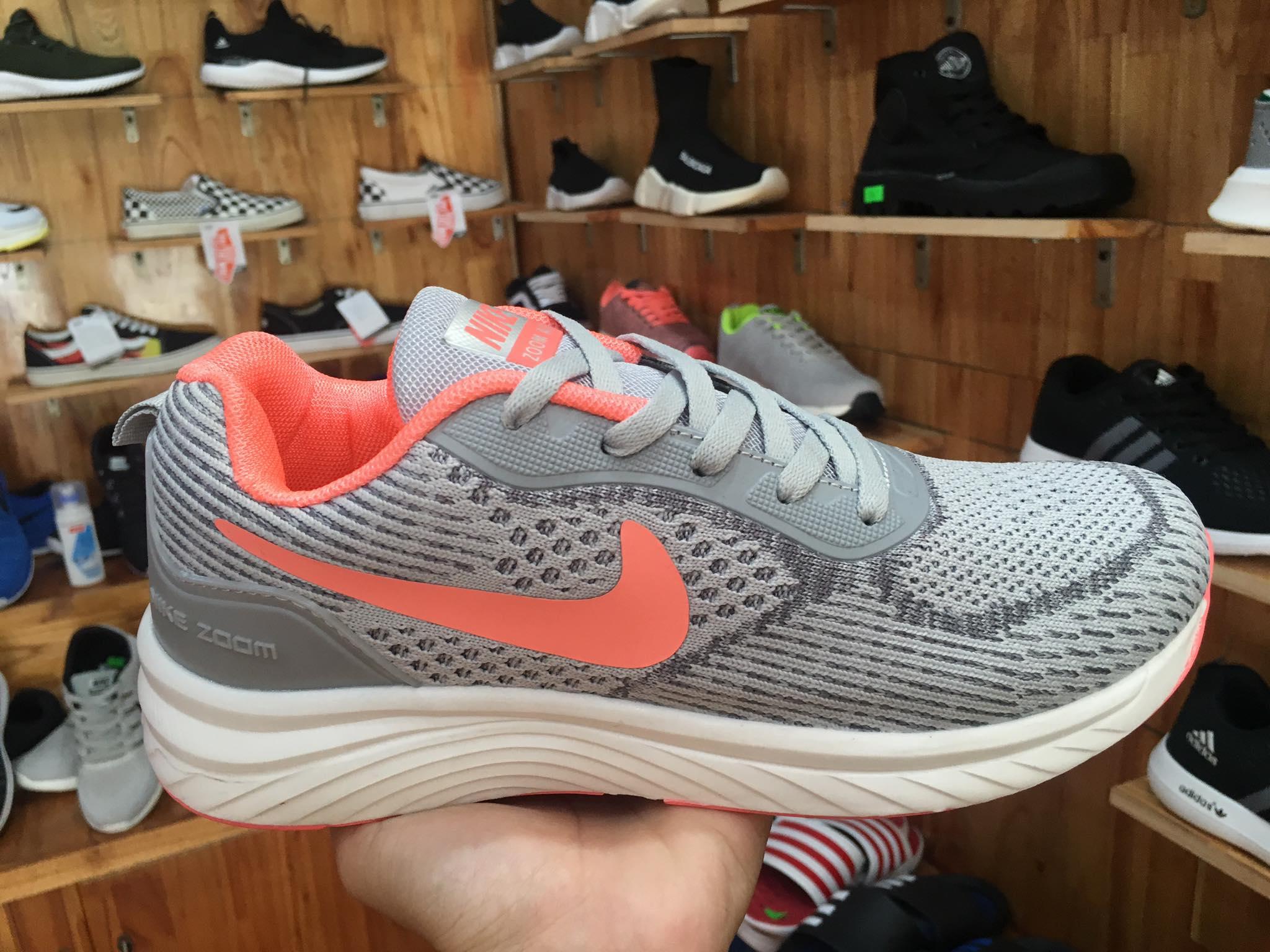 Giày Nike zoom air xám cam
