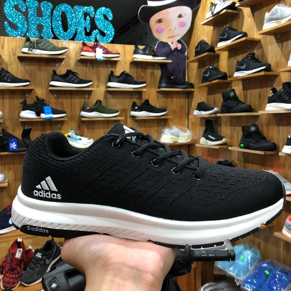 Giày Adidas Đen đế vạch đen