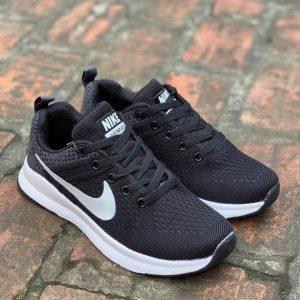 Giày Nike Air Max đen logo trắng