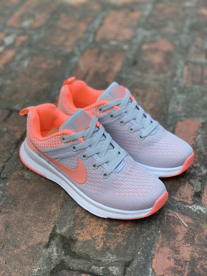 Giày Nike Air Max xám cam