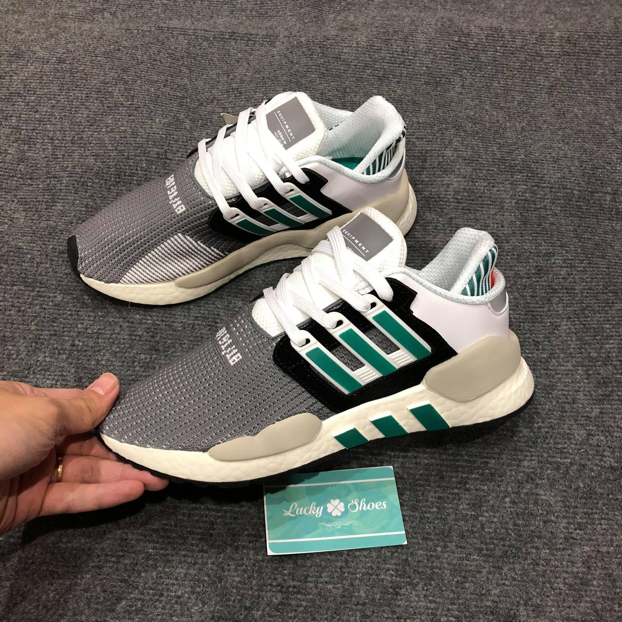 Giày Adidas EQT sf xám xanh trắng