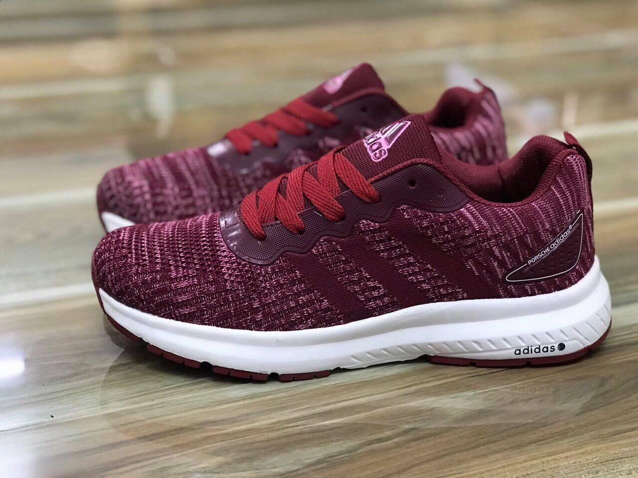 Giày Adidas đỏ mận đế trắng