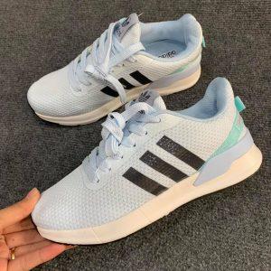 Giày Adidas xanh xám logo đen