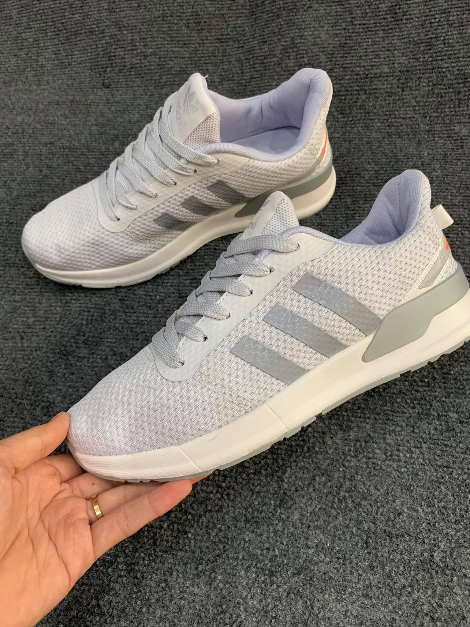 Giày Adidas xám trắng