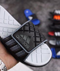 Dép Adidas dán xanh đen