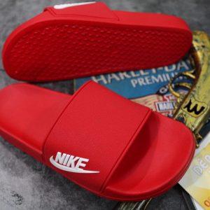 Dép Nike đỏ logo trắng