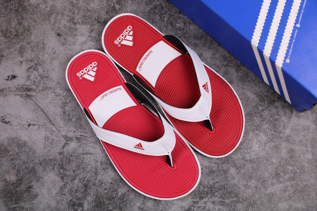 Tông Adidas Trắng đỏ
