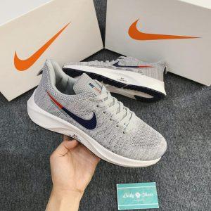 Giày Nike zoom xám logo xanh đỏ
