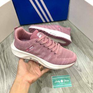 Giày Adidas tím đế trắng