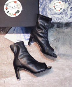 Giày Boot ( Bốt ) nữ hở ngón cổ thấp